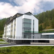 Reconstruction of the hotel in Carpathians mountains