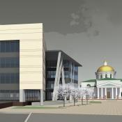Проект здания управления социальной защиты в г.Белая Церковь